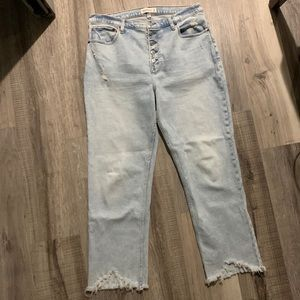 Abercrombie Jeans Ultra High Rise Ankle Straight